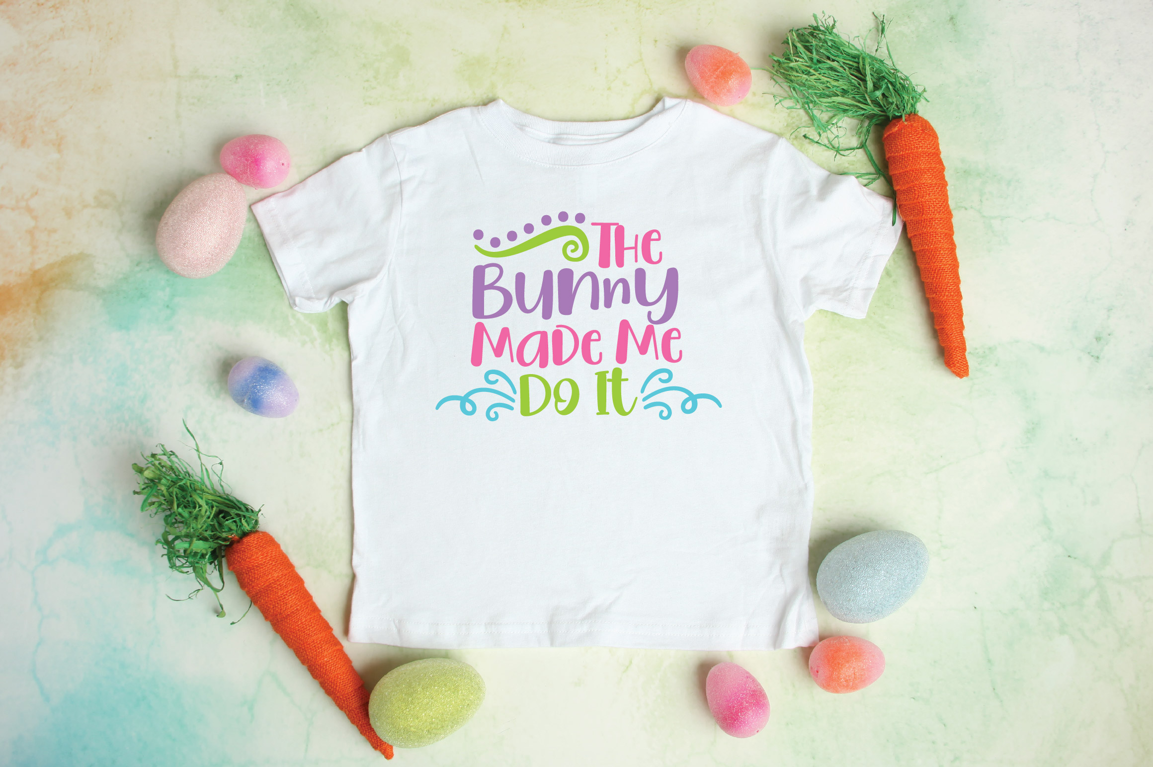 Easter SVG Cut File - The Bunny Made Me Do It SVG DXF EPS example image 2