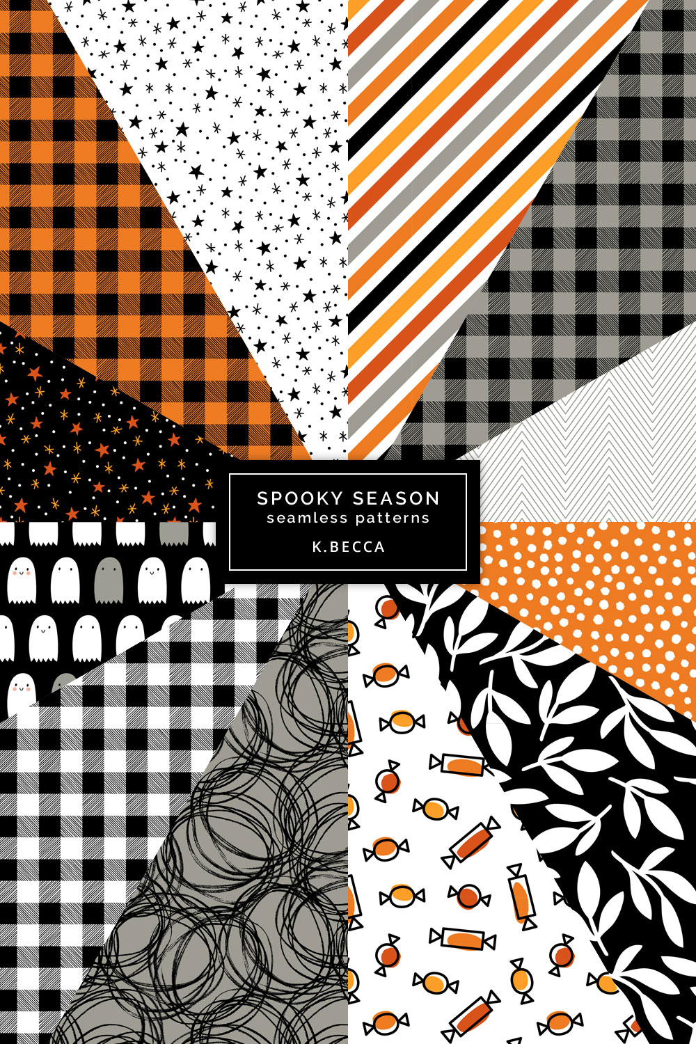 Spooky Halloween Background Patterns Seamless example image 8