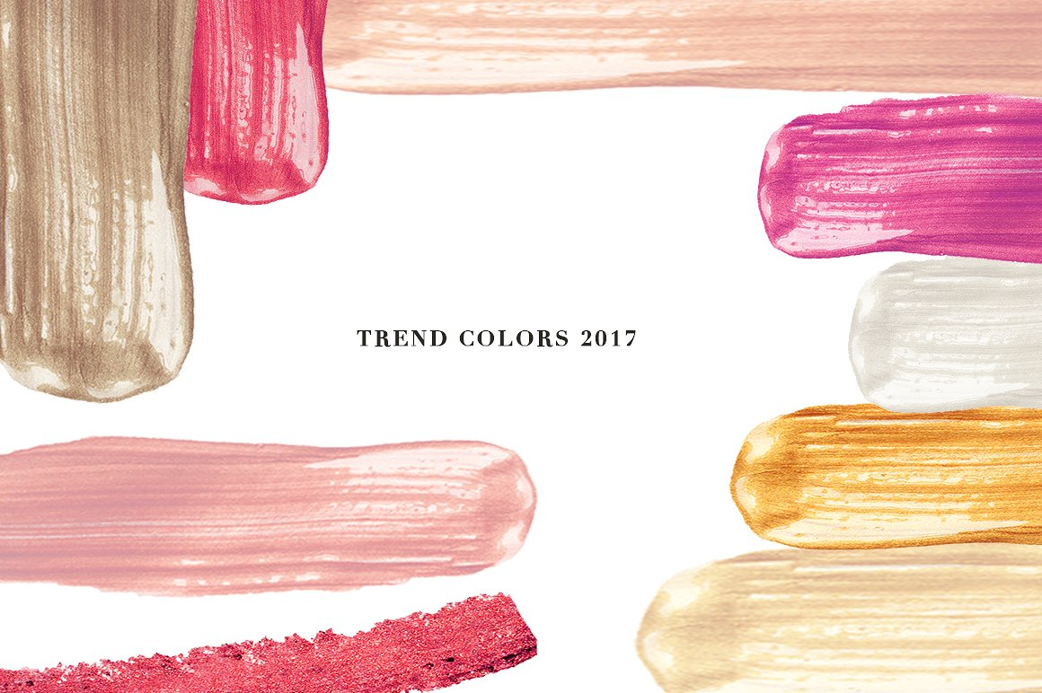 57 Vector Cream Brush - Trend colors example image 2