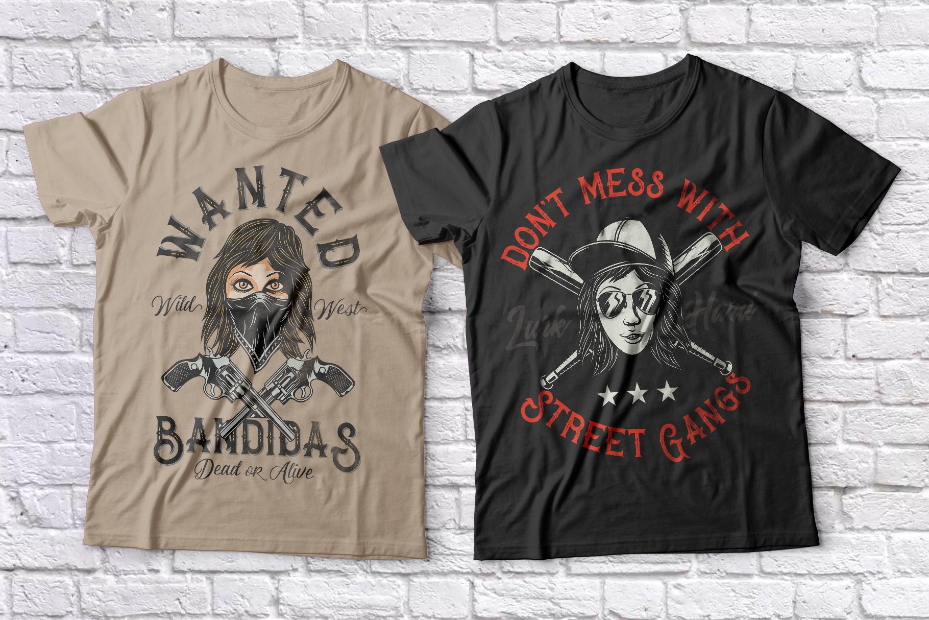 Bandidas - font and t-shirt designs example image 5