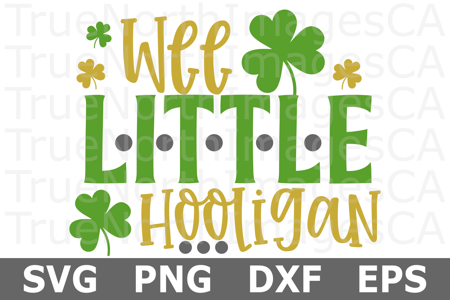 Wee LIttle Hooligan - St Patricks Day SVG Cut File example image 1