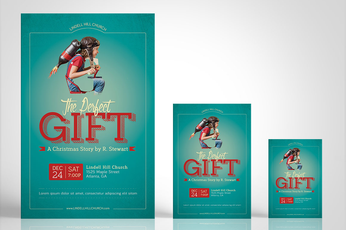Perfect Gift Church Flyer Poster Template example image 4
