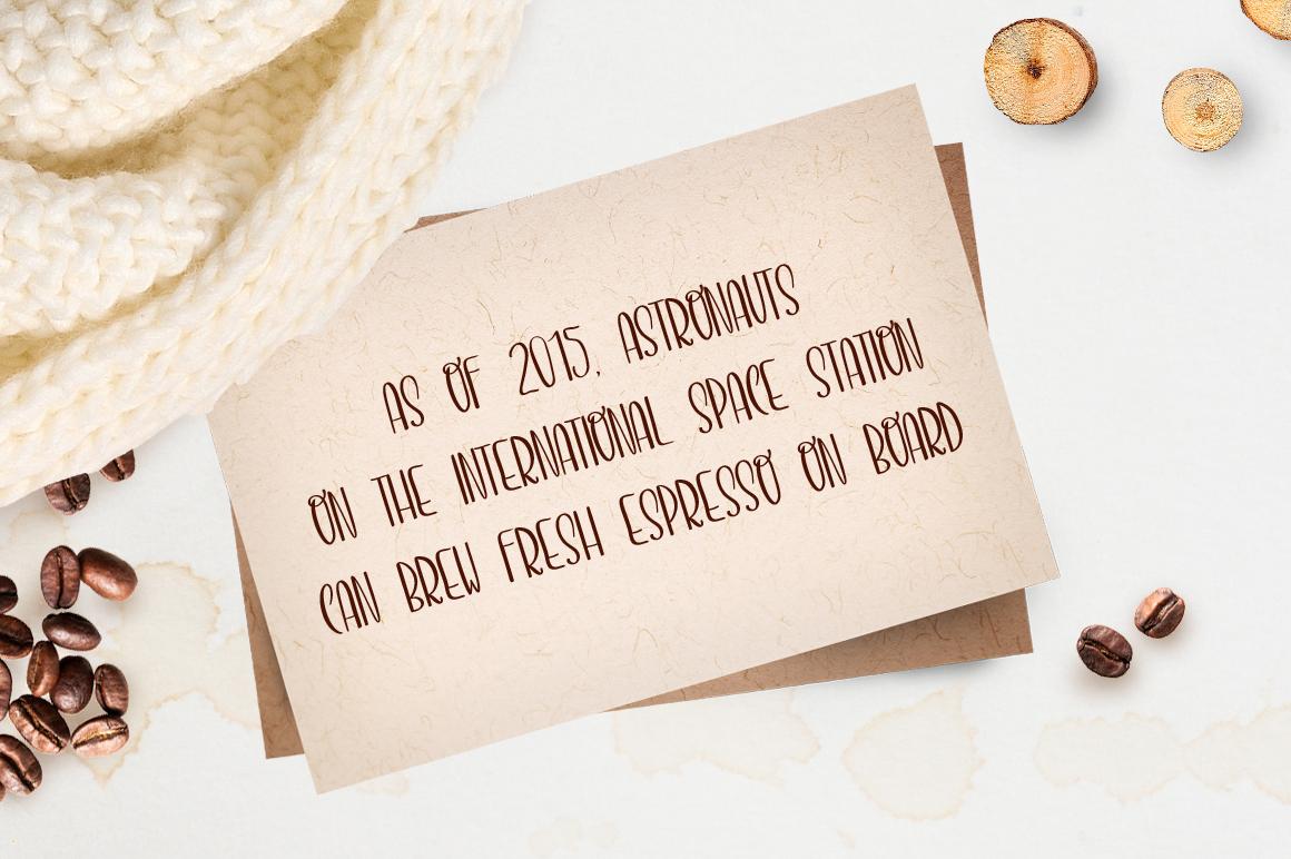 Espresso font example image 4
