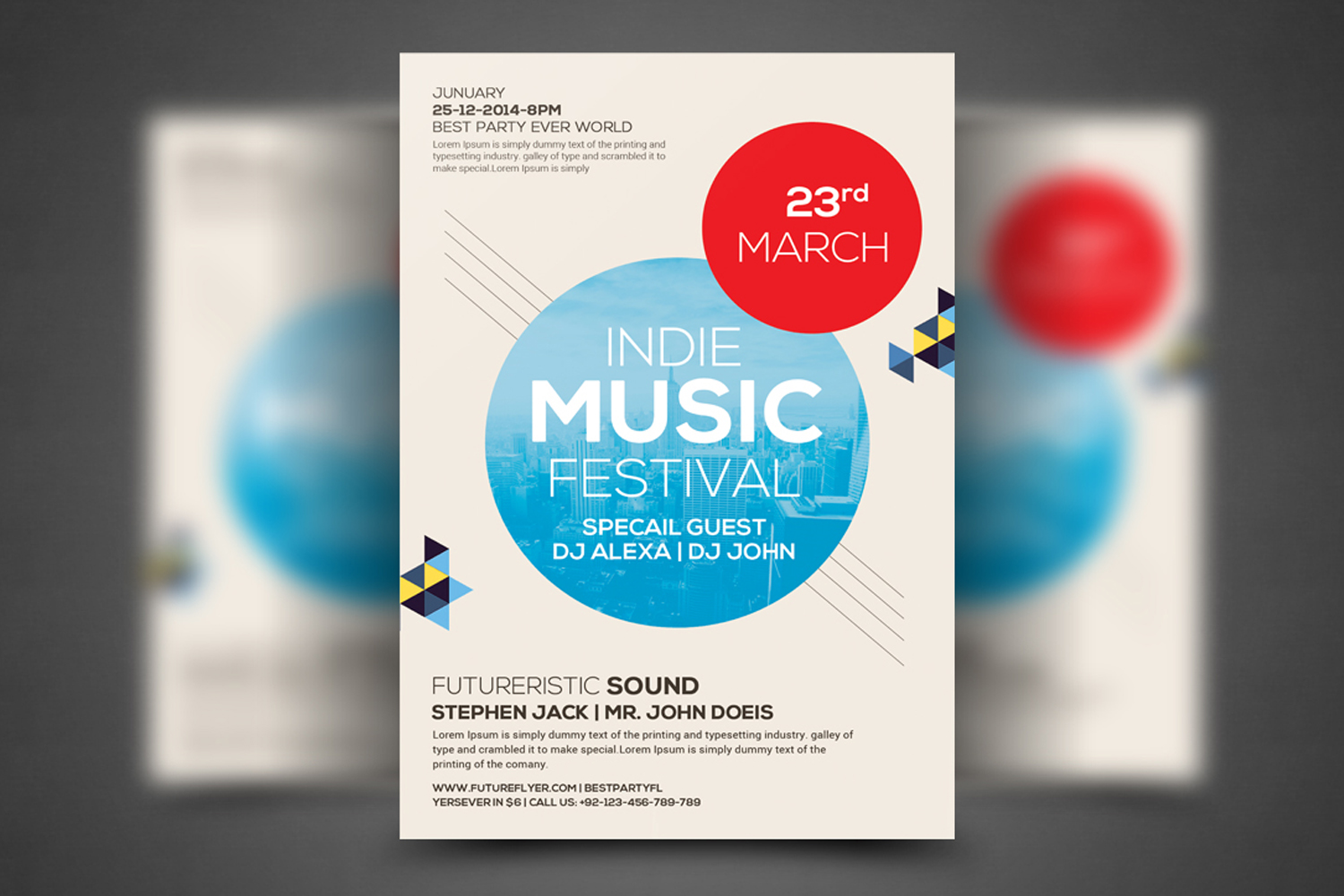 Modern Beats Flyer Template example image 1