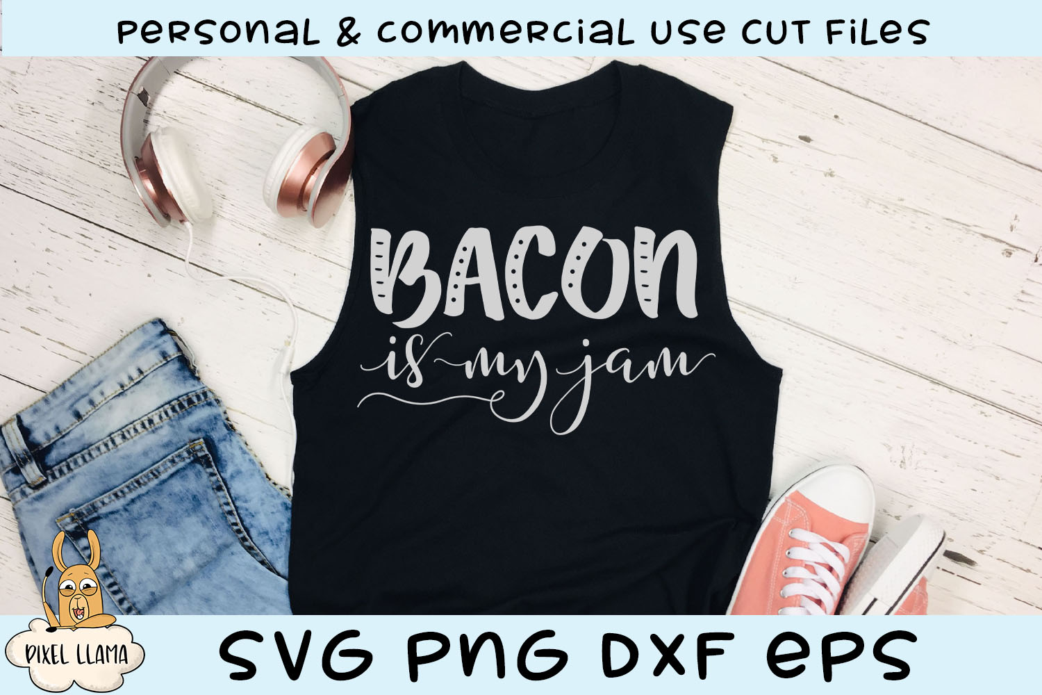 Bacon Is My Jam Keto SVG Cut File example image 1