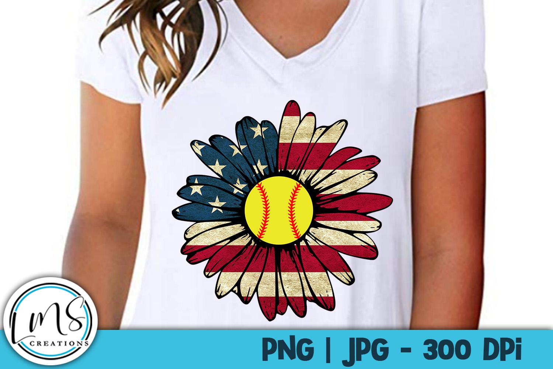 Patriotic Sunflower Sports Bundle PNG, JPG, Sublimation example image 7