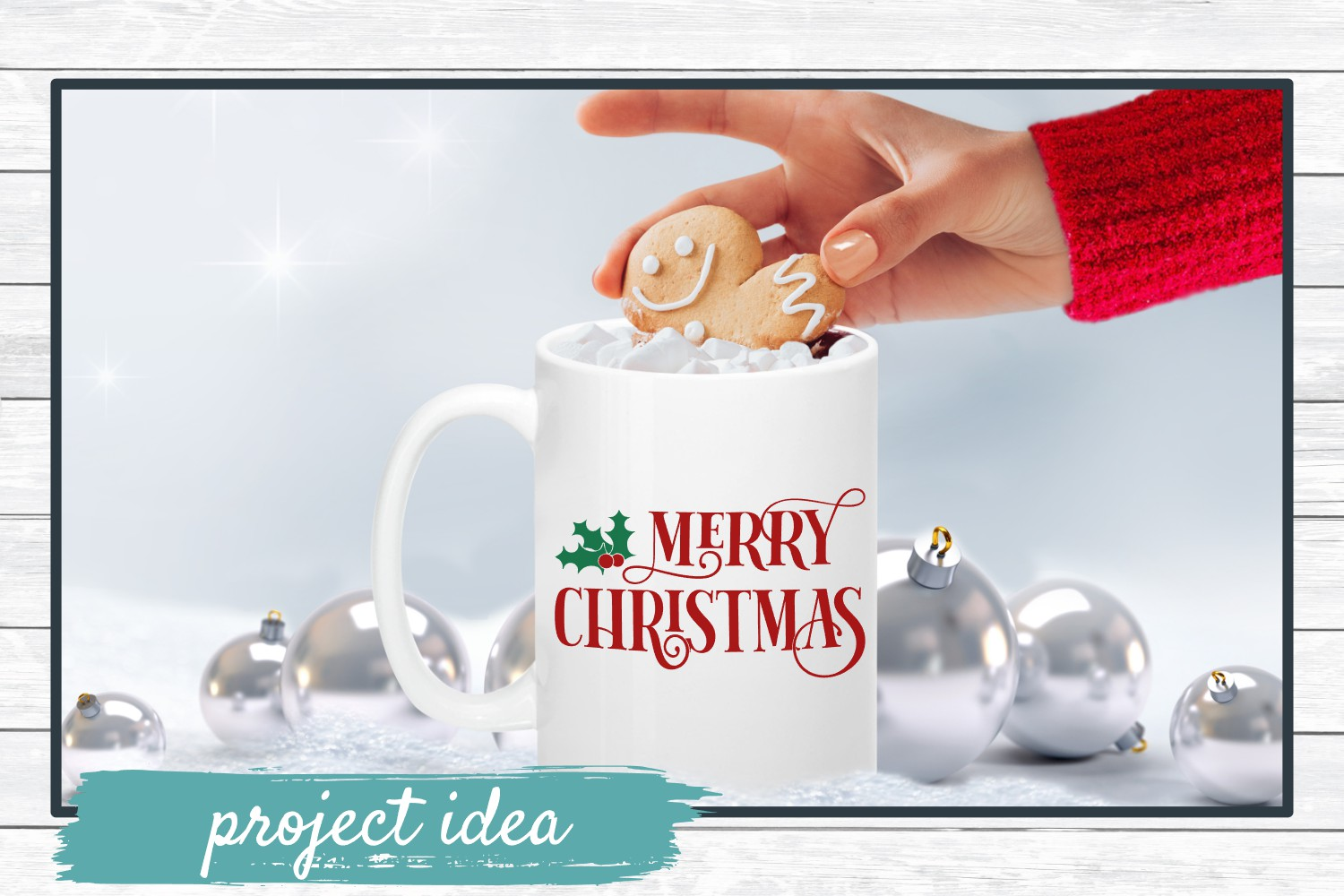 Merry Christmas, Winter Holiday SVG Cut File example image 2