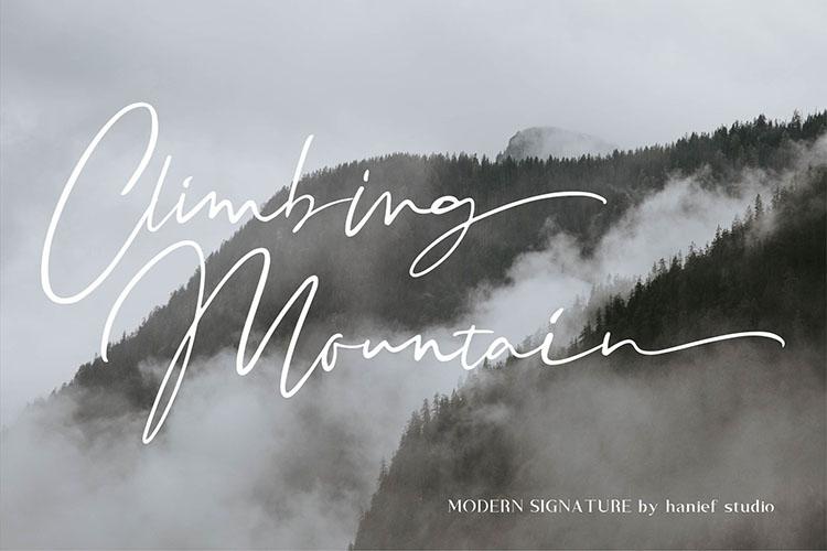 Binetta Signature//Modern Script example image 3