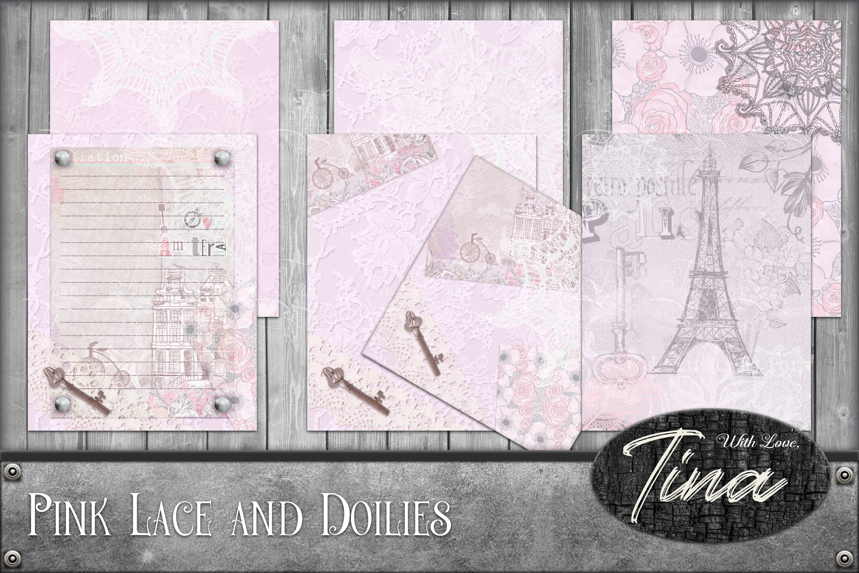Pink Lace and Doilies Romantic Lace Antique 092818PL1 example image 1