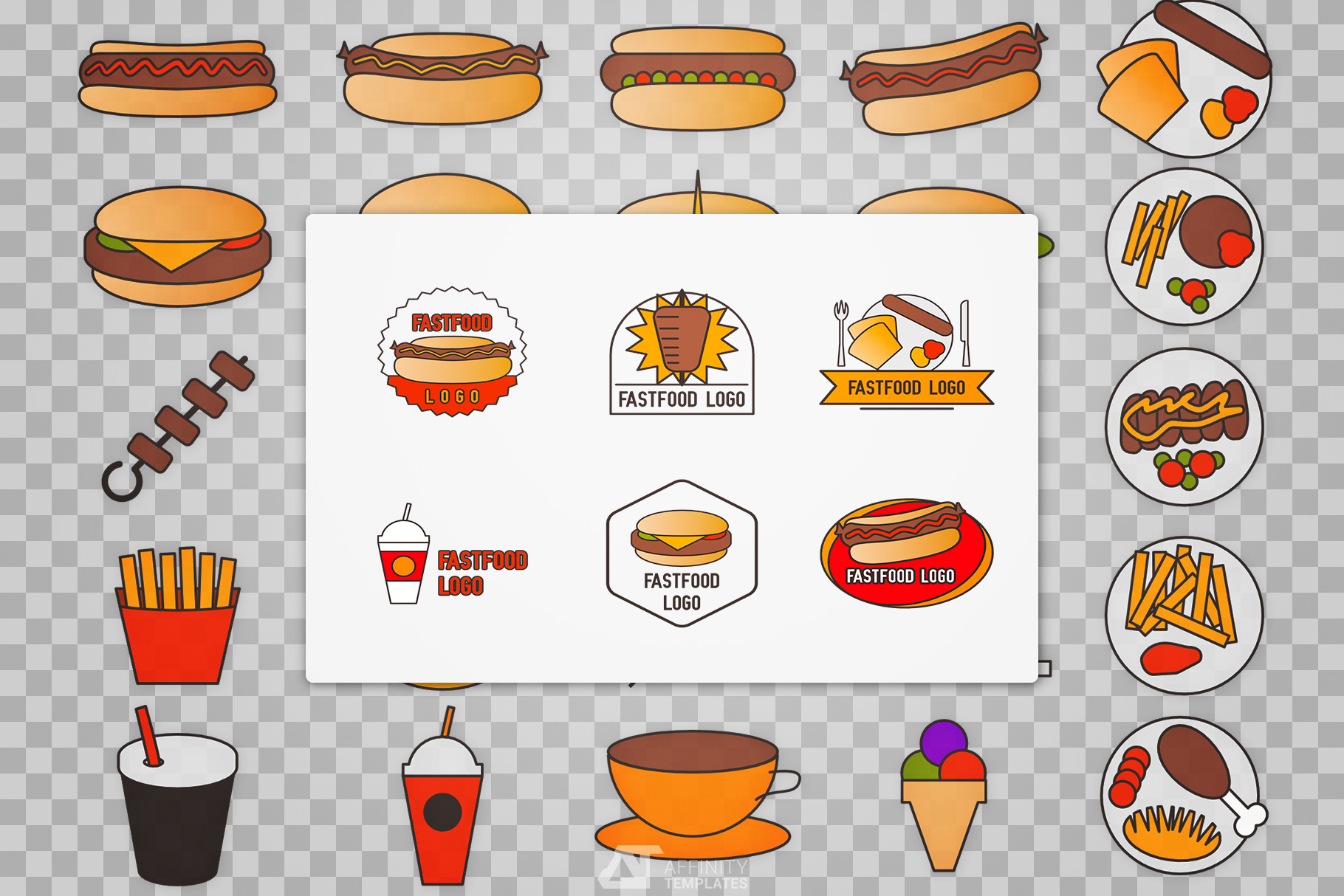 Fast Food Small Restaurant Logos example image 3