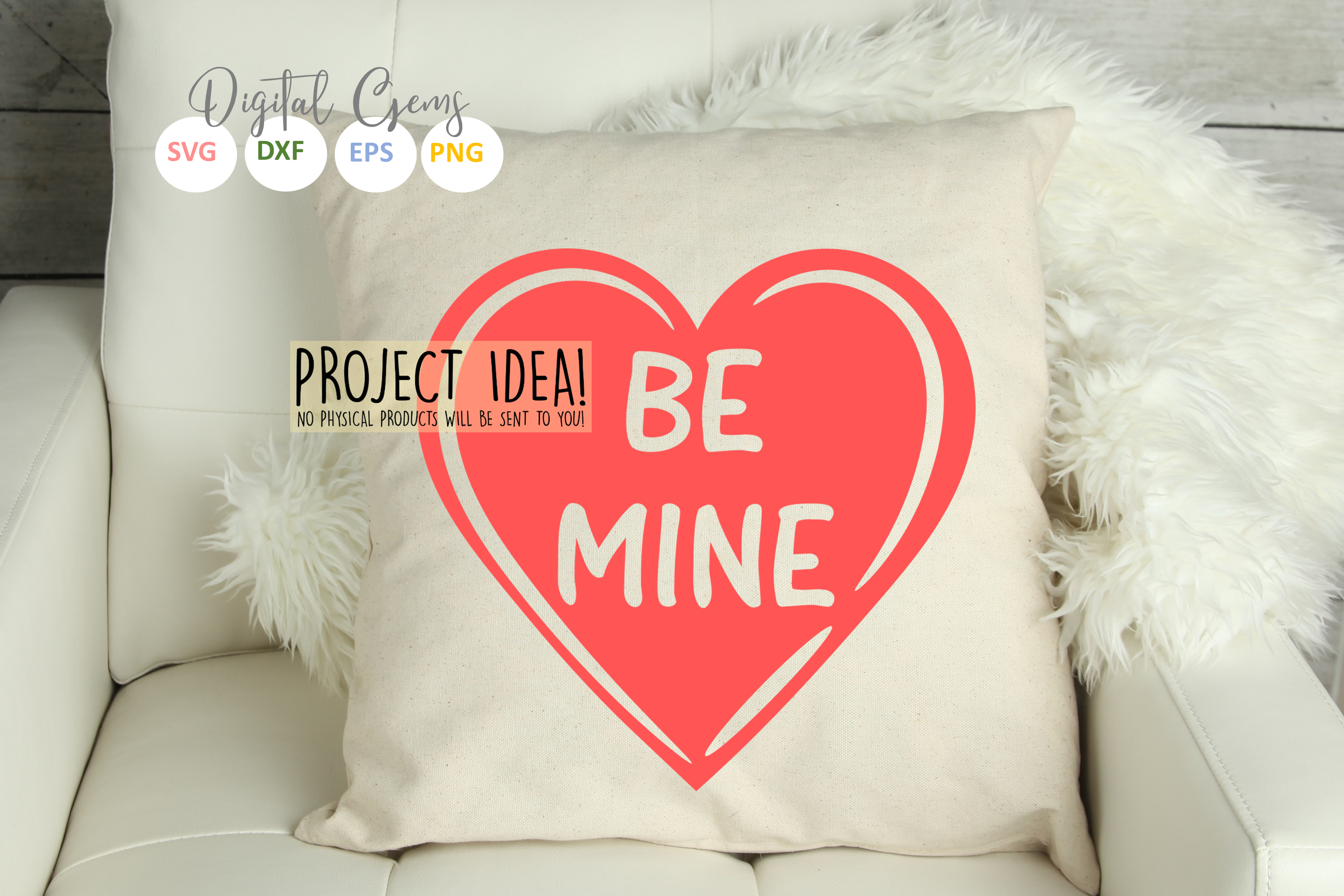 Be mine SVG / EPS / DXF / PNG Files example image 5