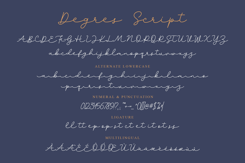 Degres Monoline Script example image 4