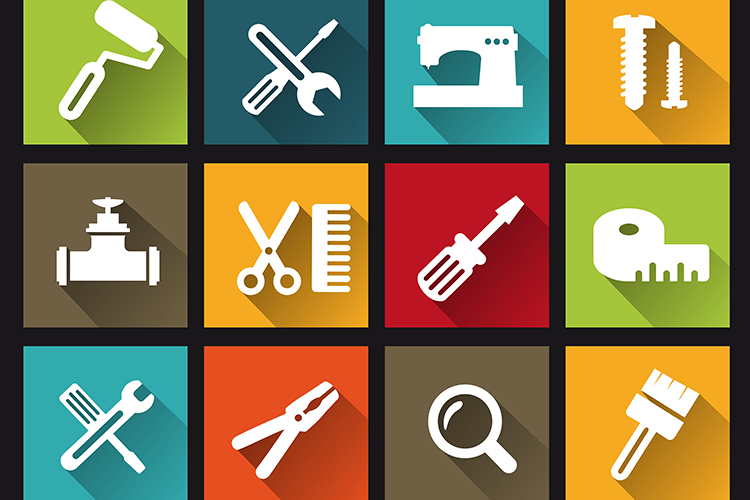 Construction tools icons example image 1