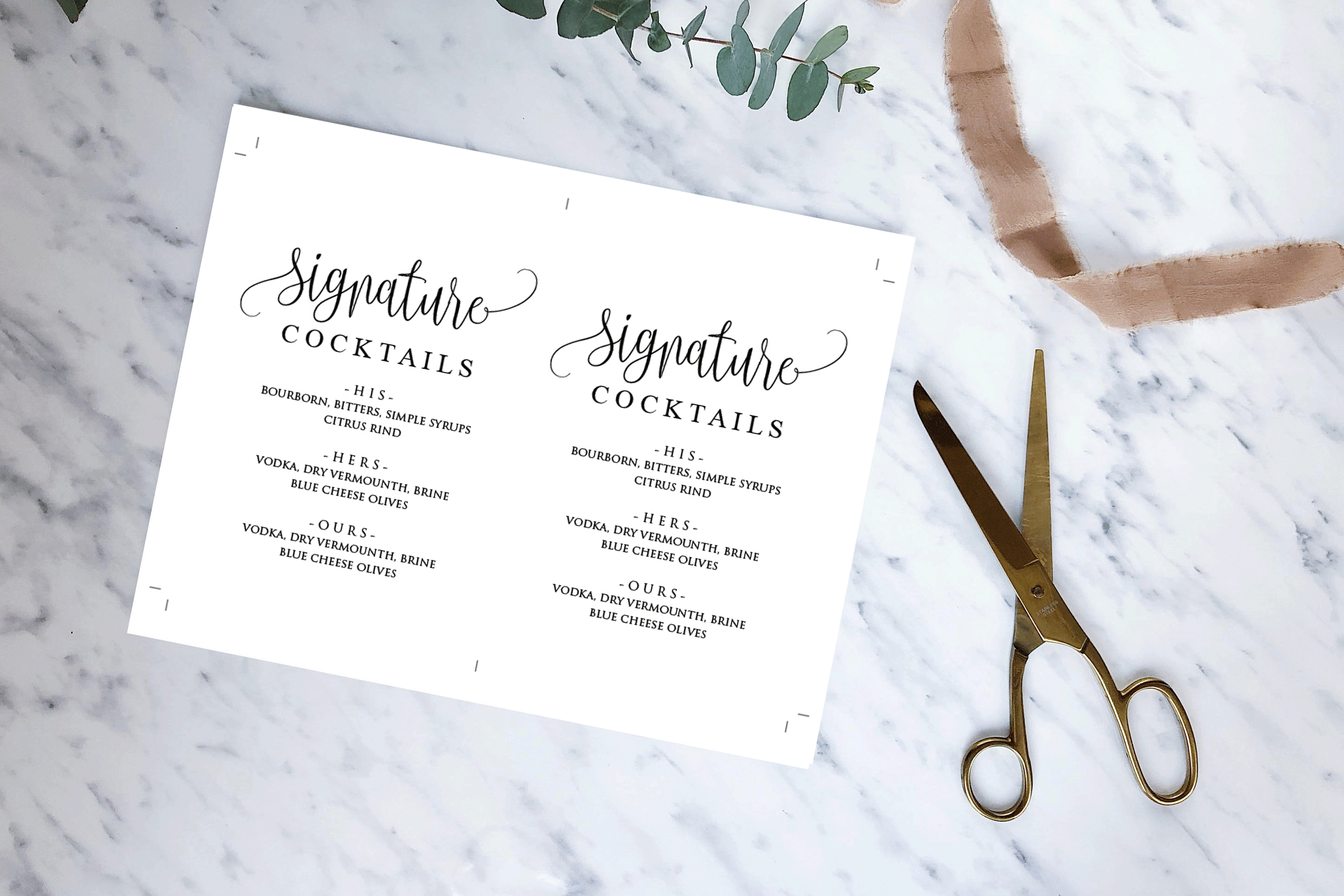 Signature Cocktail Sign Wedding example image 7