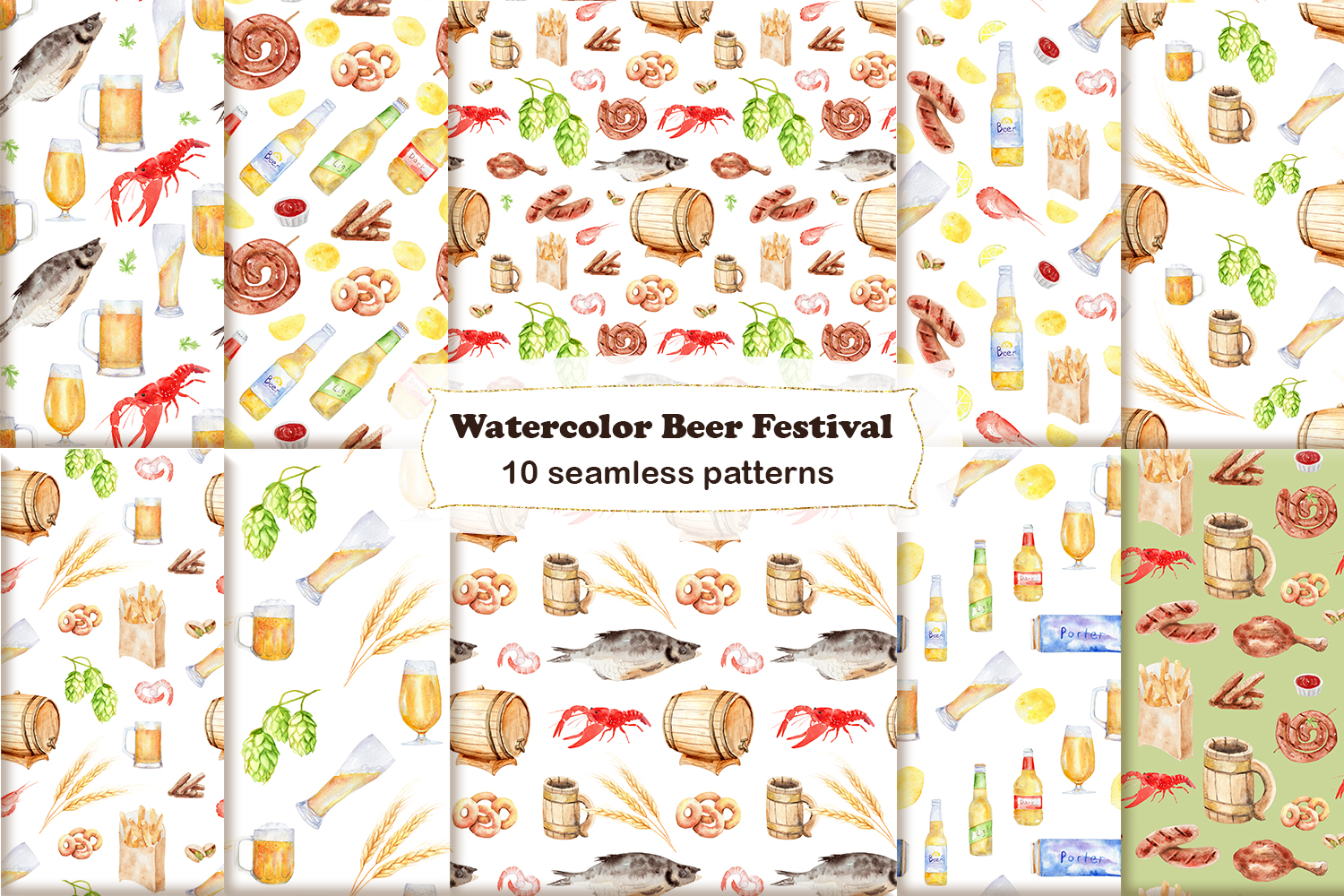Watercolor Beer Festival example image 2