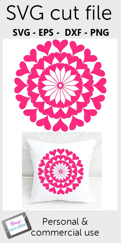Mandala SVG - Heart mandala svg example image 2