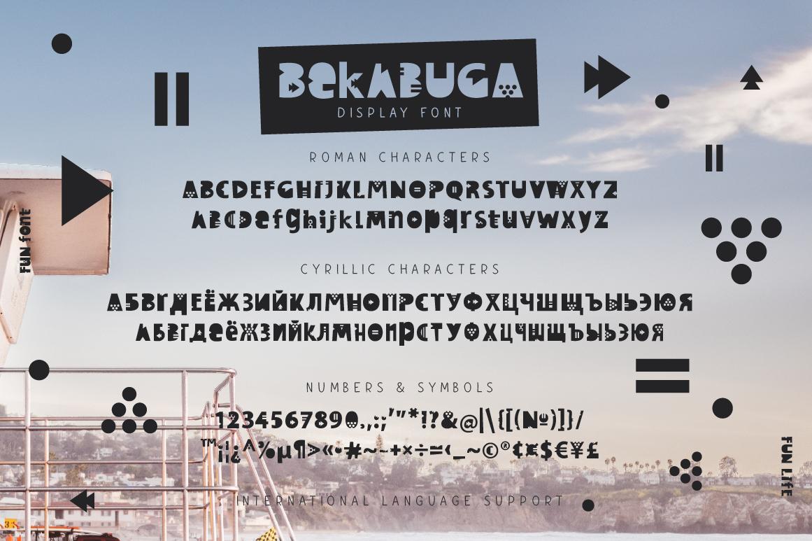 Bekabuga Display Font example image 5
