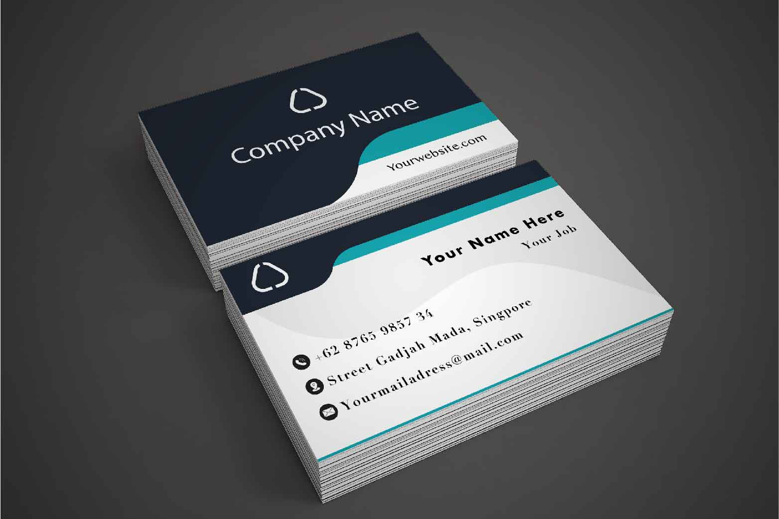 Simple Business Card Design example image 1