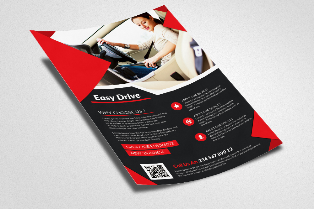 Driving Learning School Flyer  example image 3