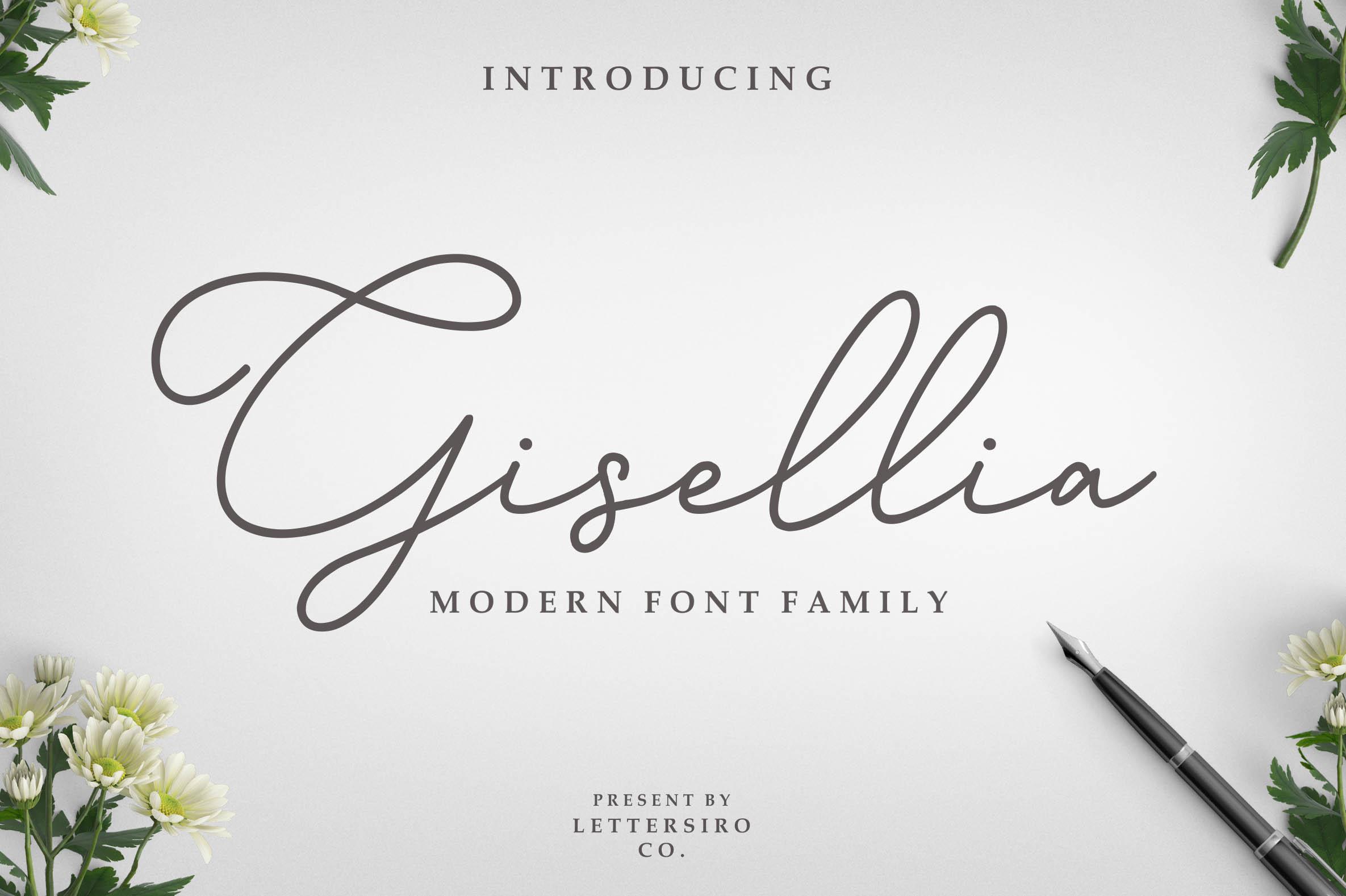 Gisellia Font Family example image 1