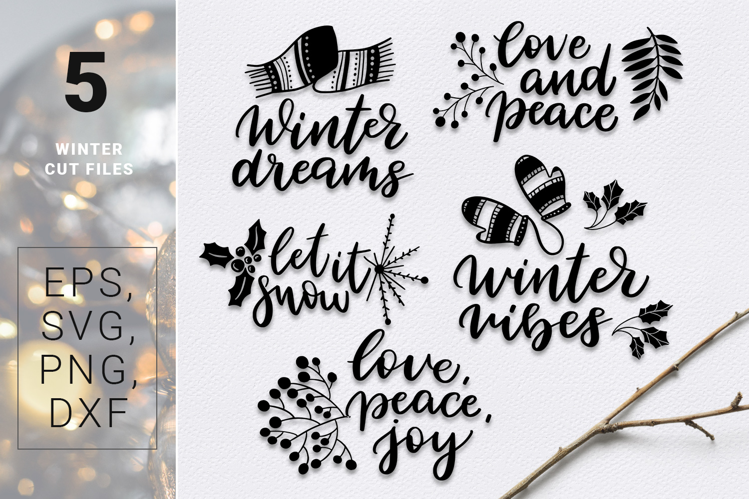 Warm Wishes - winter design kit example image 6