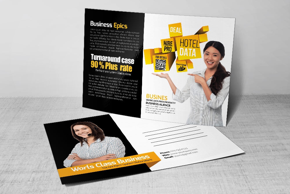 Business & Corporate Postcards Template example image 1
