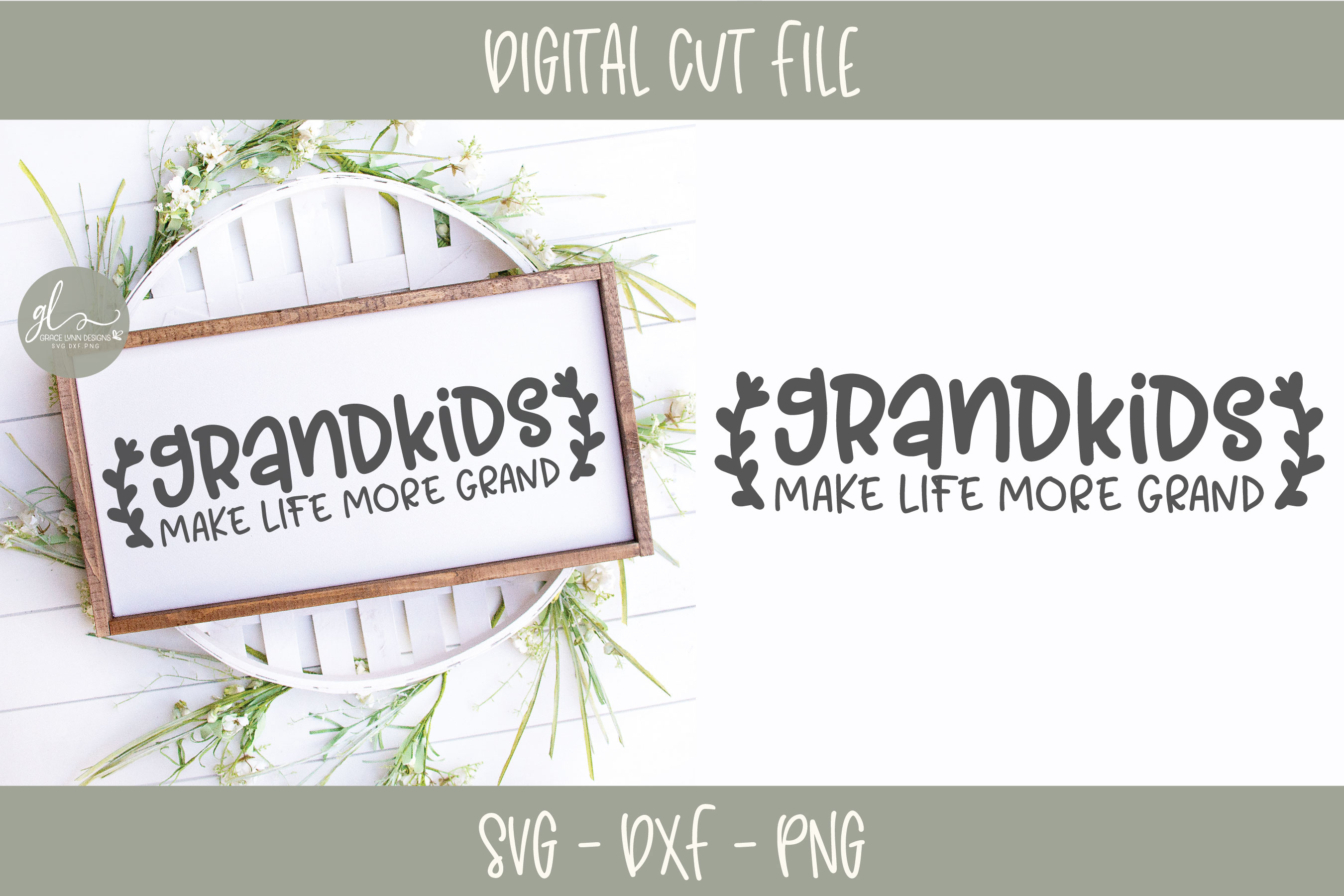 Grandkids Make Life More Grand - SVG Cut File example image 2
