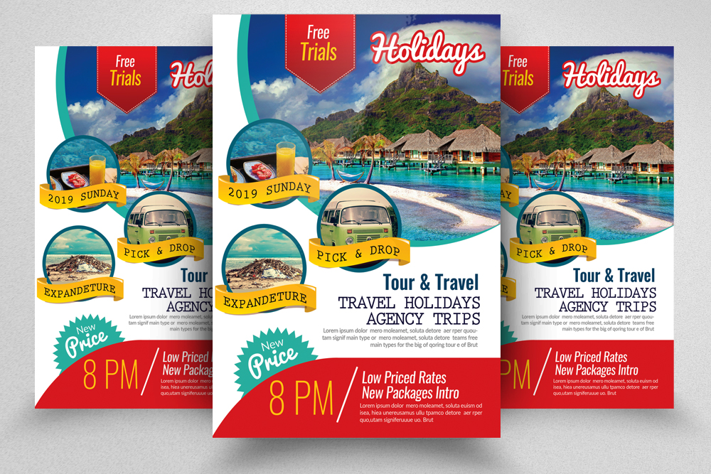 Holiday Tour/Travel Flyer Template example image 1