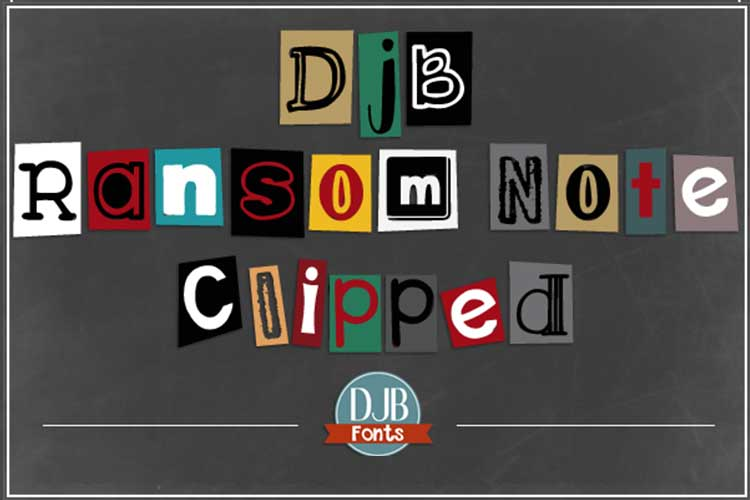 DJB Ransomed Font Bundle example image 6