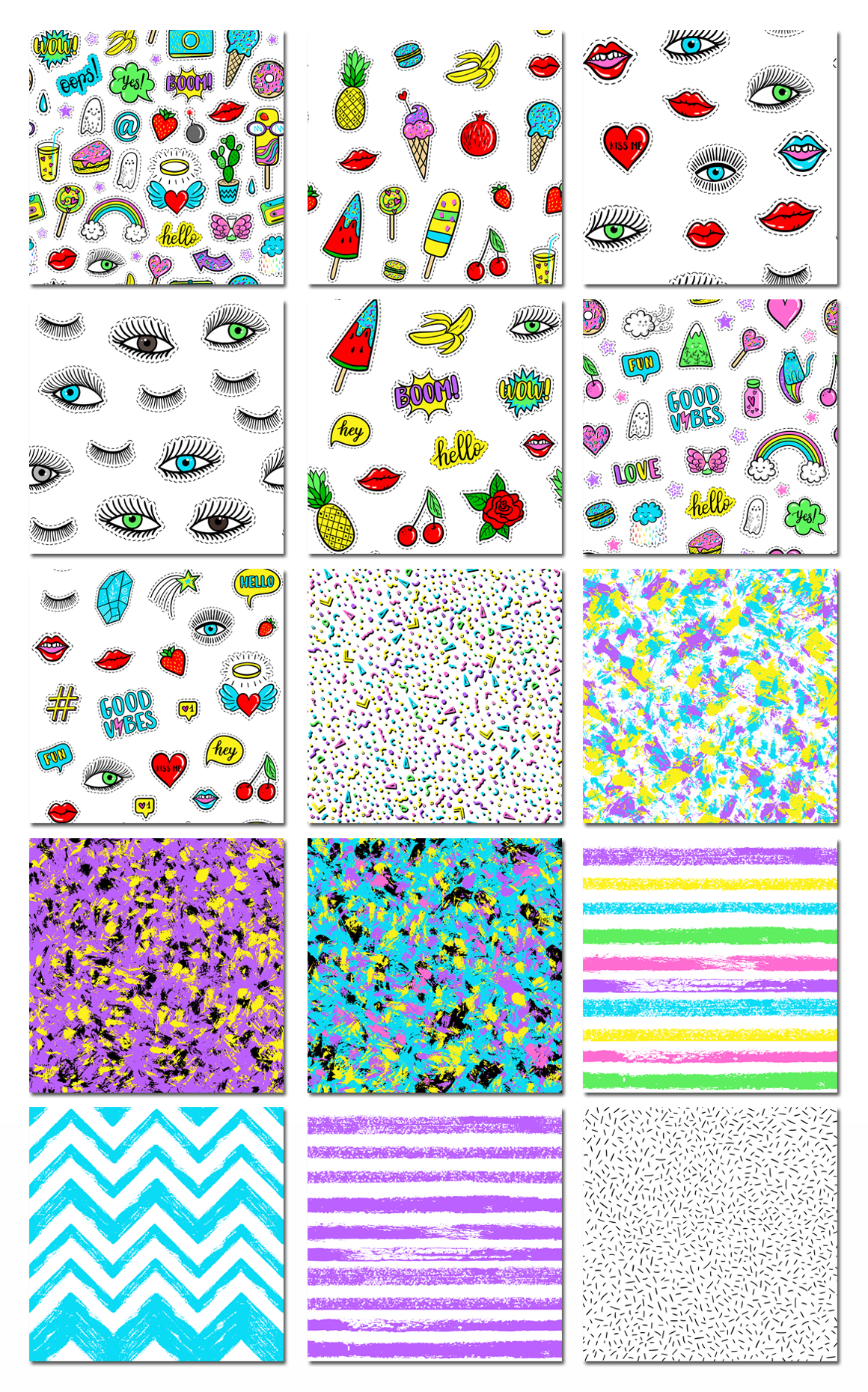 100 Funny patches 27 patterns example image 8