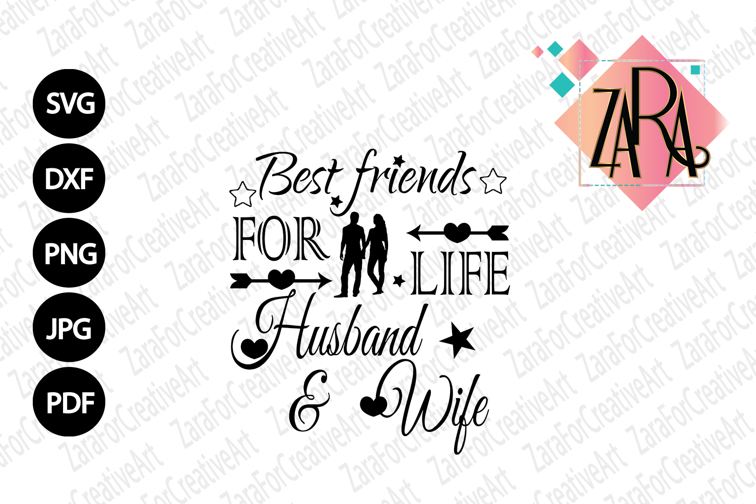 Best Friends For Life Husband And Wife Svg Dxf Pdf Jpg Png