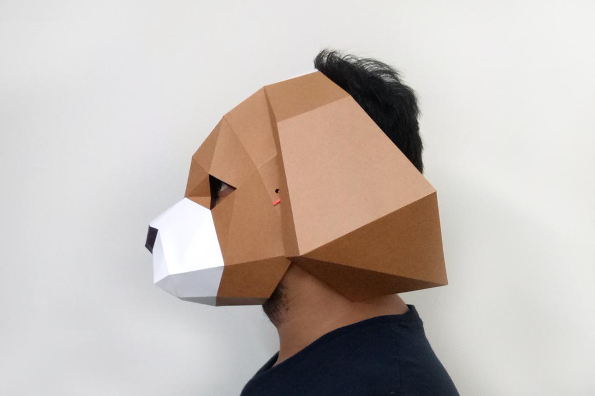 DIY Cocker Spaniel Mask - 3d papercraft example image 4