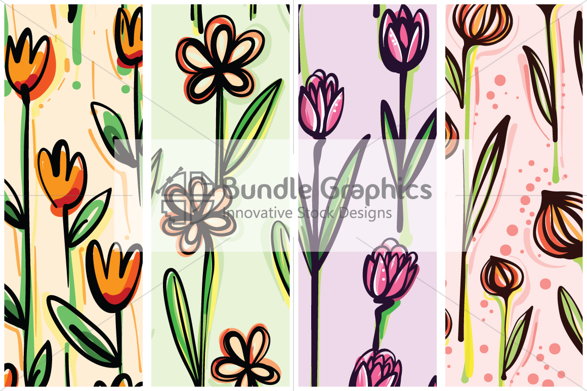 Vector Floral Pattern Pack example image 2