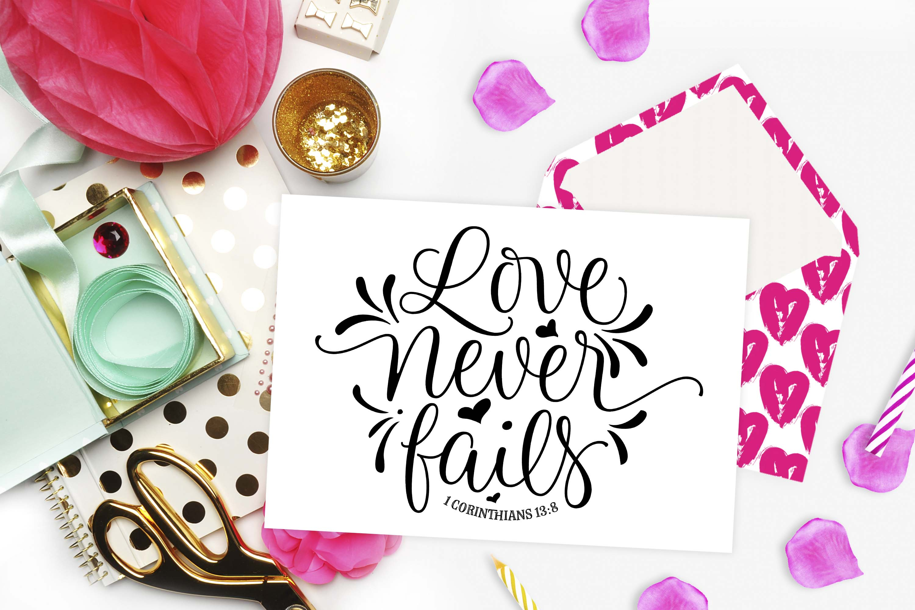 Love never fails SVG DXF PNG EPS example image 2