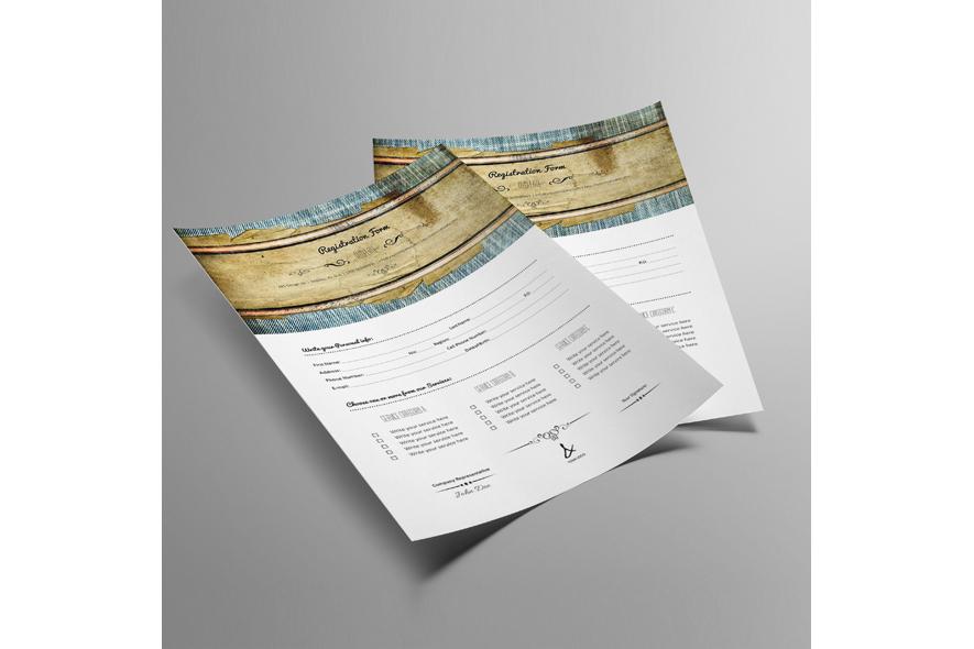 Registration Form Template v11 example image 2