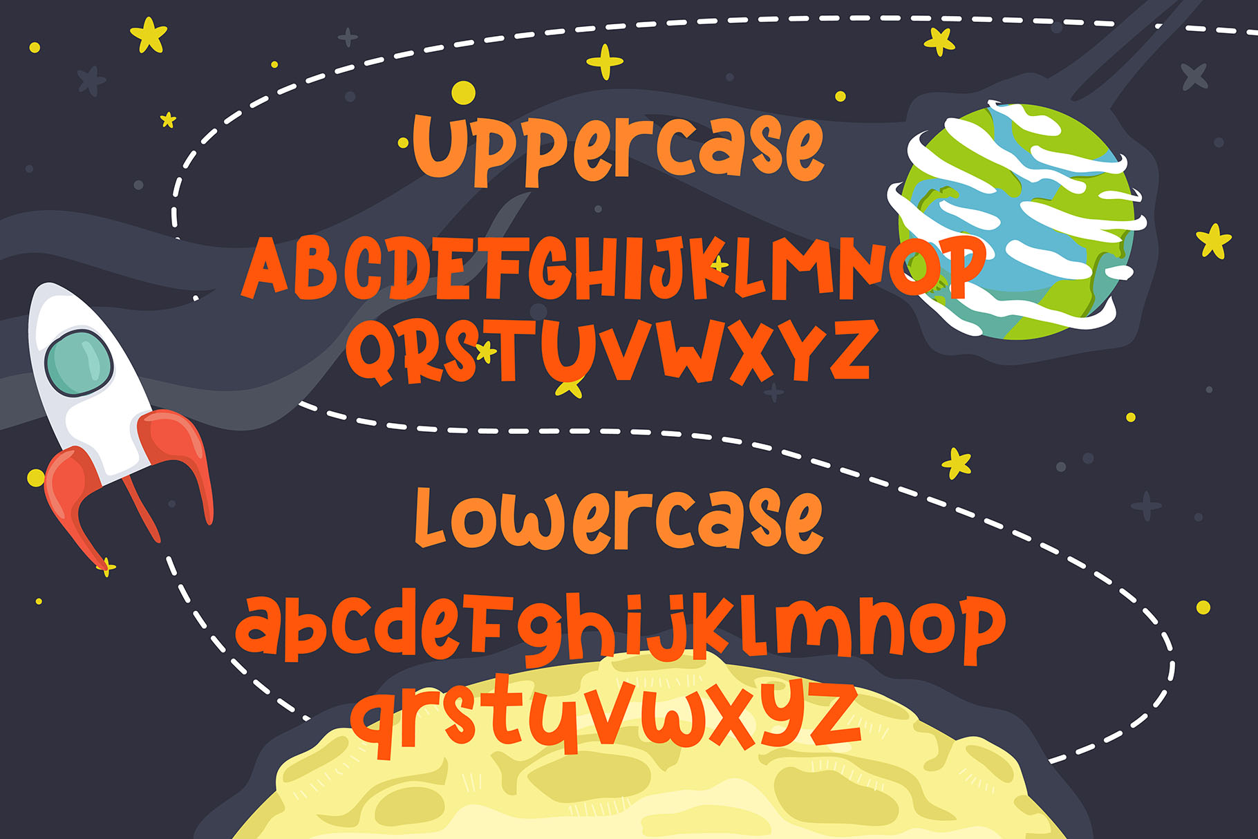 Kidspace - Playful Font example image 2