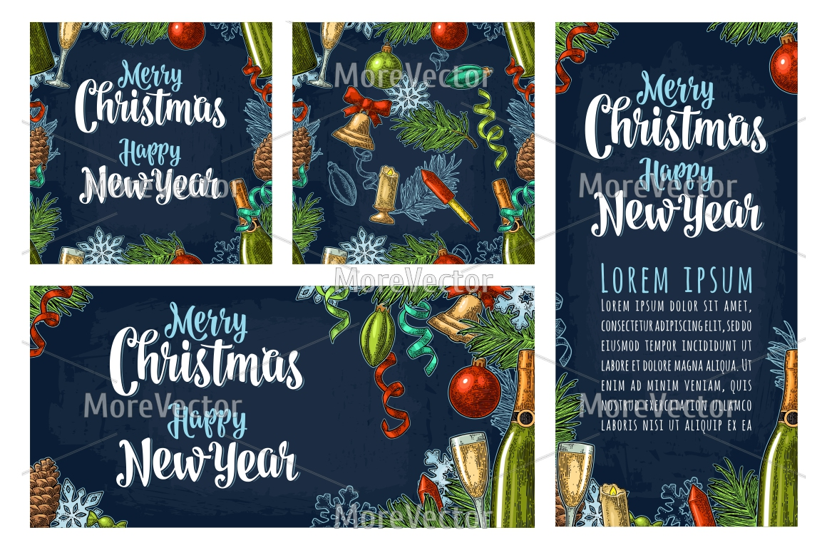 BUUNDLE Seamless pattern, posters, illustration with Happy New Year 2018 lettering with salute. example image 2