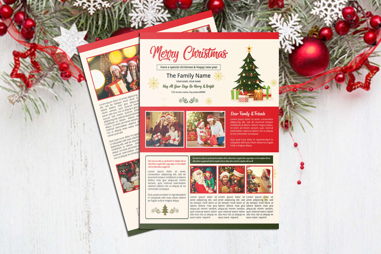 Christmas Newsletter Template example image 6