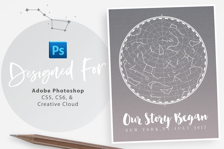 Custom StarMap Poster Creator for Photoshop example image 6