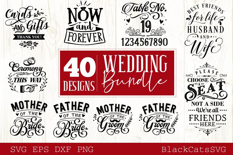 Wedding SVG bundle 40 designs vol 1 example image 2