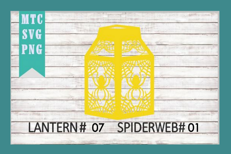Halloween Lantern #07 Spiderweb #01 SVG Cut File example image 2
