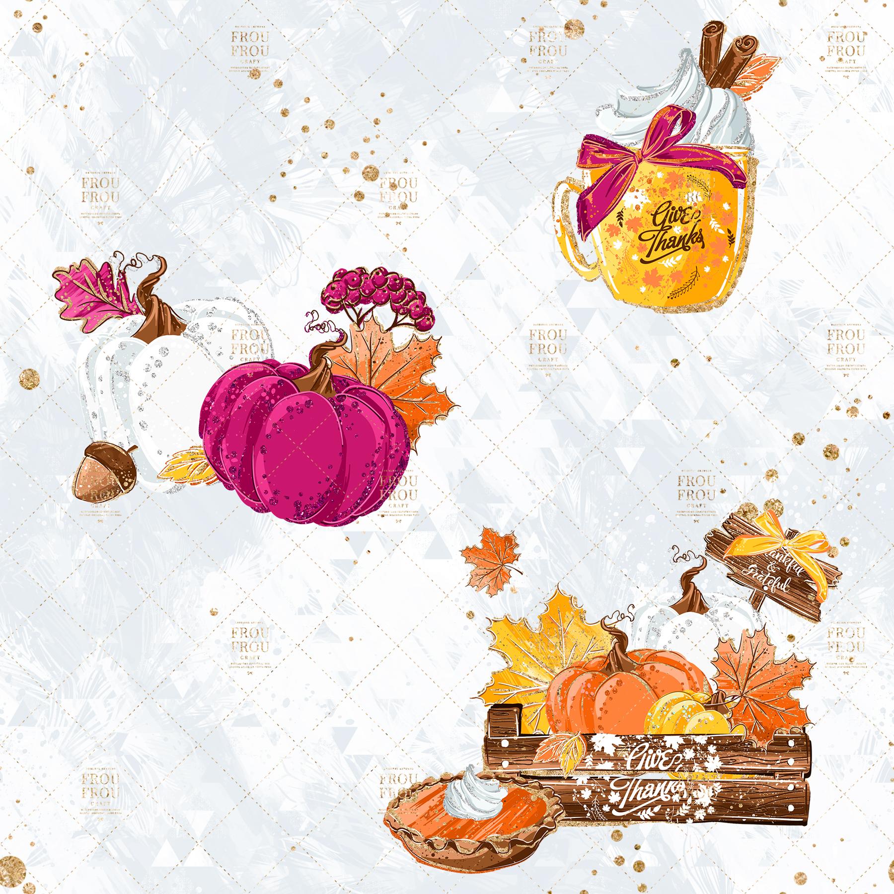 Sweets Cake Pumpkin Pie Fall Autumn Clip Art example image 2
