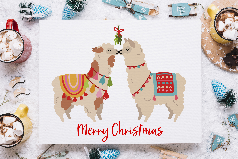 Christmas Alpacas Vector Art example image 3