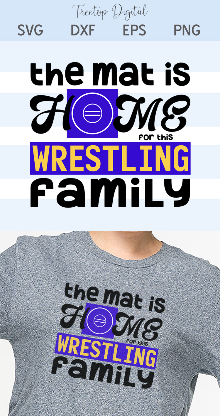 The Mat is Home for this Wrestling Family - A Sports SVG example image 4