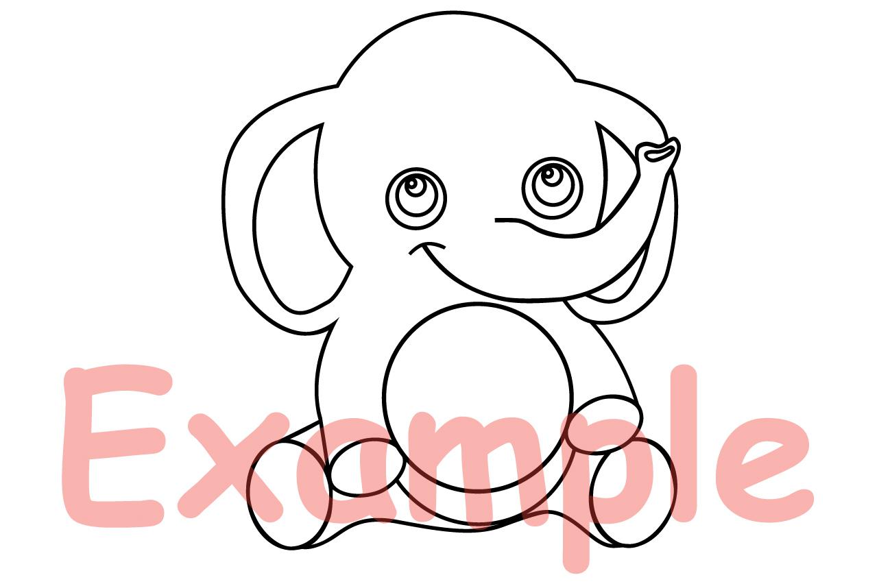 Elephant Rhino Circle Digital Safari Baby Animals 753S example image 3