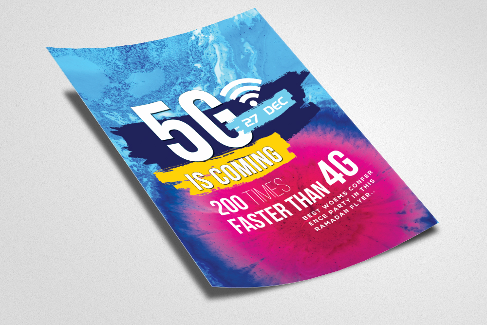 5G Internet Flyer Template example image 2