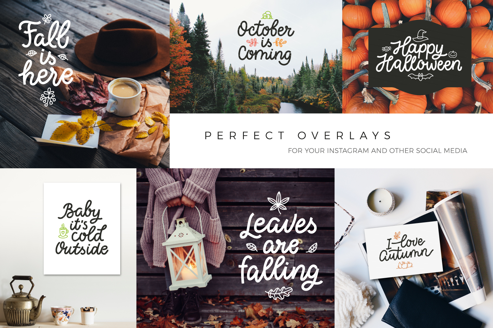 Autumn Collection, vector letterings example image 4