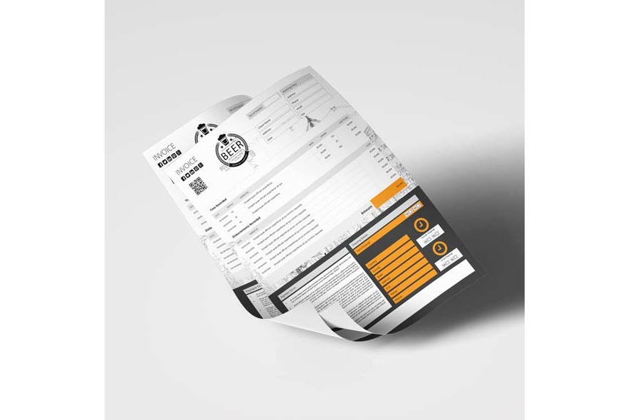 A4 Invoice Template example image 2