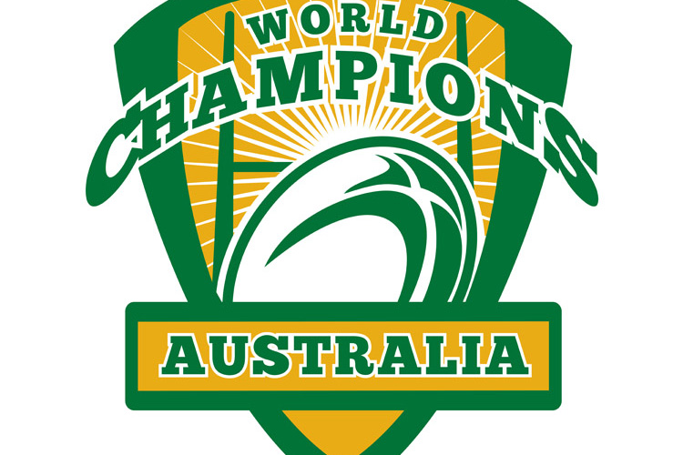 Rugby ball Australia World Champions example image 1