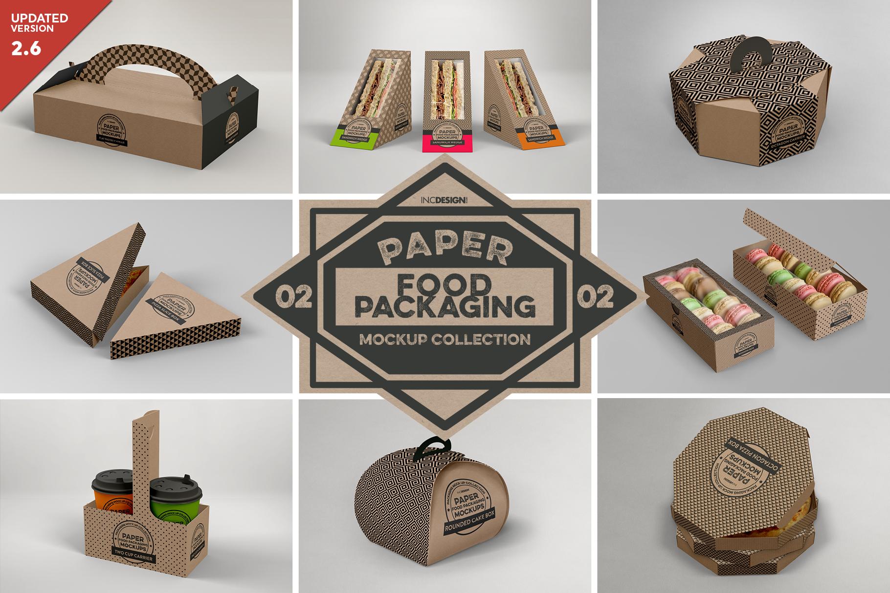 VOL.2 Food Box Packaging MockUps example image 1